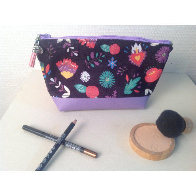 Pochette-Trousse Floralia Purple